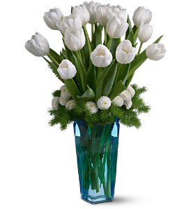 Winter White Tulips in Lenexa KS, Eden Floral and Events