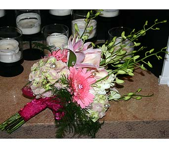 Bridal Bouquet Pink With Jewels S & R in Little Rock AR, The Empty Vase