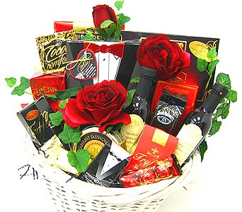 ''Lasting Impressions'' Gourmet Basket in Oklahoma City OK, Array of Flowers & Gifts