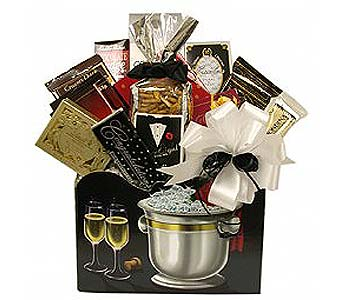 GF76  ''Cherished Moments'' Gourmet Food Arrangement in Oklahoma City OK, Array of Flowers & Gifts