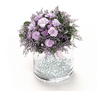 Lavender Miniature Carnation Bouquet in Abington MA, The Hutcheon's Flower Co, Inc.