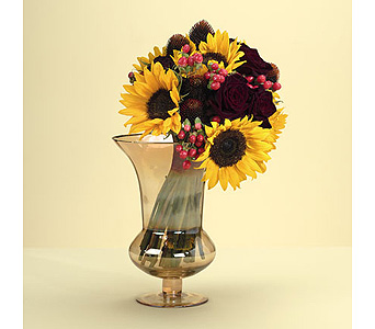 Sunflower and Rose Bouquet in Abington MA, The Hutcheon's Flower Co, Inc.
