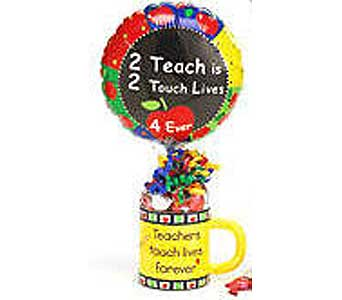 CB158 ''Teacher'' Candy filled Mug in Oklahoma City OK, Array of Flowers & Gifts