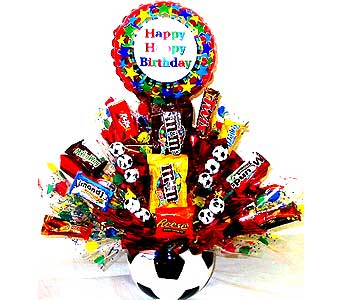 CB188 ''Soccer To Me'' Candy Bouquet in Oklahoma City OK, Array of Flowers & Gifts