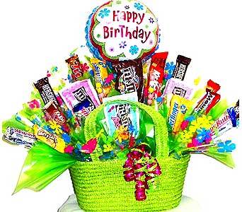CB182 ''Sweet Expressions'' Birthday Candy Bouquet in Oklahoma City OK, Array of Flowers & Gifts