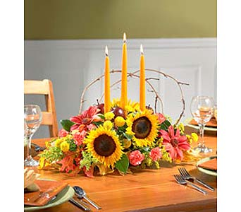 Autumn Celebration Centerpiece - Small in Ambridge PA, Heritage Floral Shoppe