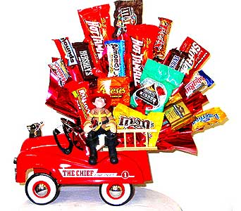 CB179 ''Fireman On Duty'' Candy Bouquet in Oklahoma City OK, Array of Flowers & Gifts