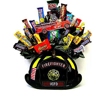 CB197 ''Fireman'' Candy Bouquet in Oklahoma City OK, Array of Flowers & Gifts