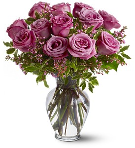 A Dozen Lavender Roses in Fredonia NY, Fresh & Fancy Flowers & Gifts