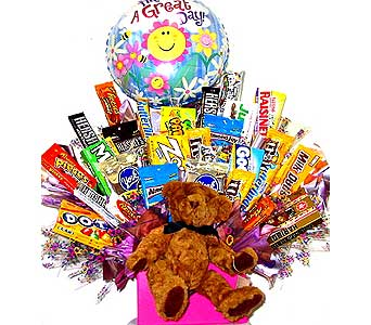CB204 ''Have A Great Day'' Giant Candy Bouquet in Oklahoma City OK, Array of Flowers & Gifts