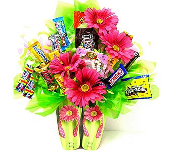 CB148  ''Flip Flops'' Candy Bouquet in Oklahoma City OK, Array of Flowers & Gifts