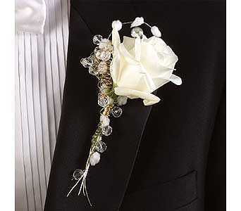 White Rose Boutonni�re in Williamsport PA, Janet's Floral Creations