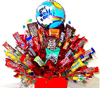 CB217 ''Get Well Grande'' Candy Bouquet in Oklahoma City OK, Array of Flowers & Gifts
