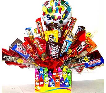CB224 ''Crayons'' Get Well Candy Bouquet in Oklahoma City OK, Array of Flowers & Gifts