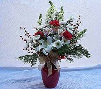 CHRISTMAS VASE ARRANGEMENT in Orange City FL, Orange City Florist