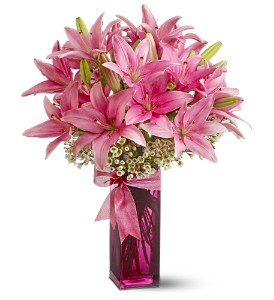 Teleflora's Pretty Pink Lilies in Marlboro NJ, Little Shop of Flowers