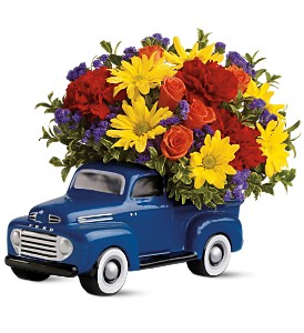 Teleflora's '48 Ford Pickup Bouquet in Newmarket ON, Blooming Wellies Flower Boutique