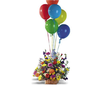 Large Basket with Balloons in San Juan Capistrano CA, Panage