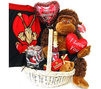VGB308 ''Time to Monkey Around'' Gift Basket in Oklahoma City OK, Array of Flowers & Gifts