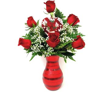 VF91 ''Chocolates and Roses'' in Oklahoma City OK, Array of Flowers & Gifts