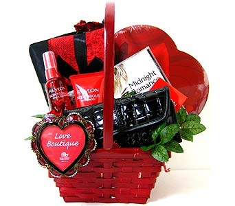 VGB303 ''Midnight Romance'' Pamper Her Basket in Oklahoma City OK, Array of Flowers & Gifts