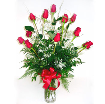 One Dozen Elegant Roses in Pleasanton CA, Tri Valley Flowers