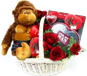VGB304 ''Silli Gorilli'' Gift Basket in Oklahoma City OK, Array of Flowers & Gifts