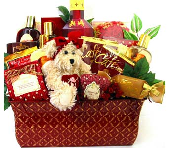 XGB120 ''Gift & Gourmet'' Basket in Oklahoma City OK, Array of Flowers & Gifts
