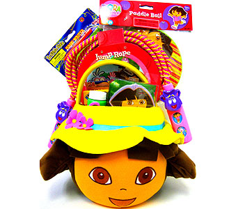KGB8 ''Fun With Dora'' Gift Basket in Oklahoma City OK, Array of Flowers & Gifts
