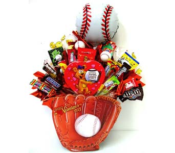 VCB91 ''You're a Great Catch'' Baseball Candy Bouq in Oklahoma City OK, Array of Flowers & Gifts