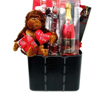 GB271 ''A Toast To Love'' Gift Basket w/Bath Robe in Oklahoma City OK, Array of Flowers & Gifts