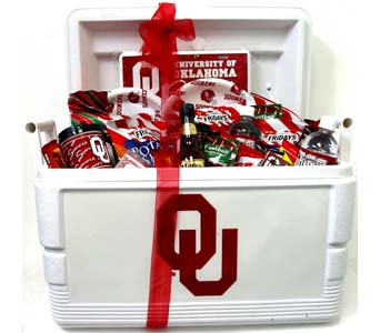 OU22 ''OU Fanatic'' Tailgate Cooler in Oklahoma City OK, Array of Flowers & Gifts