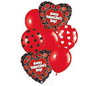 VB67 ''Heart to Heart'' Balloon Bouquet in Oklahoma City OK, Array of Flowers & Gifts