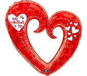 VB75 ''Big Heart'' 36''Mylar Balloon in Oklahoma City OK, Array of Flowers & Gifts