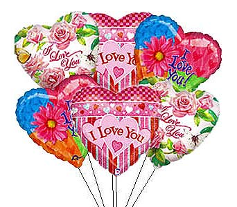 BB160 ''A Bunch of Love'' Balloon Bouquet in Oklahoma City OK, Array of Flowers & Gifts