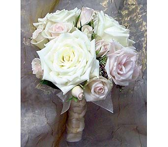 White Roses w/Sprayroses in Massapequa Park NY, Bayview Florist & Montage  1-800-800-7304