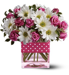 Teleflora's Polka Dots and Posies in Palm Coast FL, Blooming Flowers & Gifts