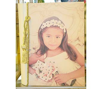 Personalized Communion Photo Book in Massapequa Park NY, Bayview Florist & Montage  1-800-800-7304