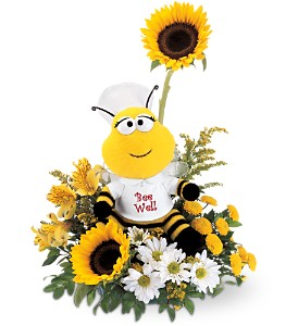Teleflora's Bee Well Bouquet in Bellmore NY, Petite Florist