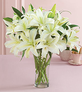 White Lily Bouquet in Hollister CA, Precious Petals