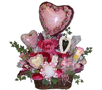 VGB56 ''Pretty In Pink'' (Gift Bouquet) in Oklahoma City OK, Array of Flowers & Gifts