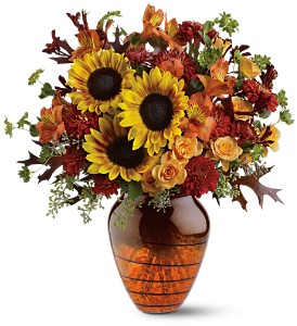 Teleflora's Amber Glow Bouquet in St. Petersburg FL, Flowers Unlimited, Inc