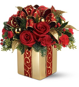 Teleflora's Holiday Gift Bouquet in Detroit MI, Chris Engel's Greenhouse