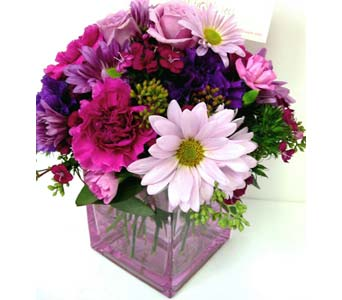 FF109 ''Plum Madness'' Bouquet in Oklahoma City OK, Array of Flowers & Gifts