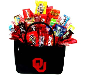 CBOU15 ''OU Purse'' Candy Bouquet in Oklahoma City OK, Array of Flowers & Gifts