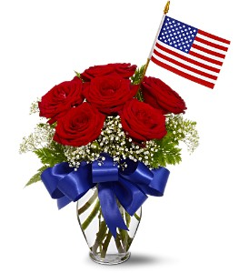 Star Spangled Roses Bouquet in Belford NJ, Flower Power Florist & Gifts