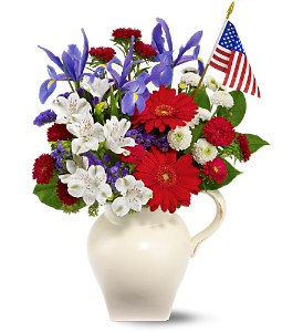 American Spirit Bouquet in Belford NJ, Flower Power Florist & Gifts