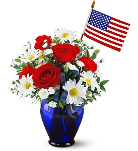 Spirit of America Bouquet in Largo FL, Rose Garden Florist