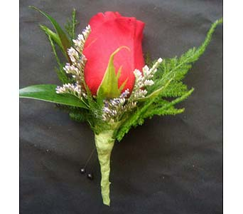 Red Rose Boutonnierre in Farmington CT, Haworth's Flowers & Gifts, LLC.