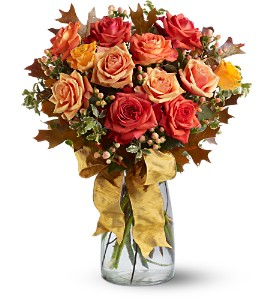 Graceful Autumn Roses in Oklahoma City OK, Array of Flowers & Gifts